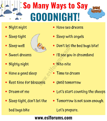 Goodnight Quotes 18 Funny Goodnight Messages In English Esl Forums