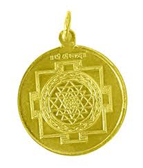 shree yantra pendant in copper gold plated energized म त र द व र पव त र श द ध क य ह आ