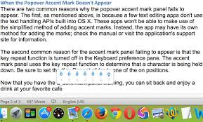 Adding Accent Marks In Os X
