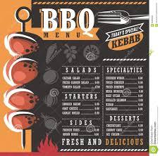 Restaurant Menus Layout Bbq Restaurant Menu Design Stock Vector Illustration Of