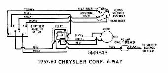 power seatcar wiring diagram page 2 power seat wiring of 1957 60 chrysler corp 6 way
