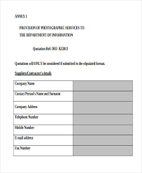Service Quotation Service Quotation Templates 7 Free Word Pdf Format Download
