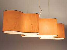 Wood veneer pendant lamp CLOUD MESA by Lampa