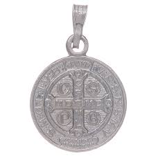 saint benedict medal in sterling silver 4