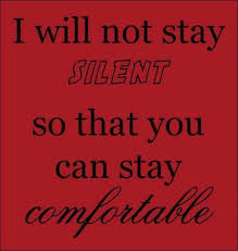 I will never stay silent about equal rights. | Can I get an Amen ...