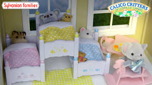 Loving Family Bedroom Furniture Sylvanian Family Calico Critters Triple Bunk Bed Set Unboxing