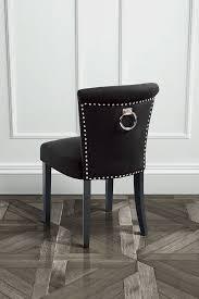 olson ring back studded black dining chair advanced chairs fantastic 1 positano black velvet dining chair with ring back my furniture advanced chairs