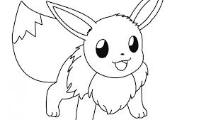 Small Picture Pokemon Coloring Pages Of Eevee Coloring Pages