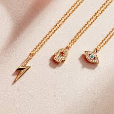 lightning bolt biography pendant necklace yellow gold vermeil previous