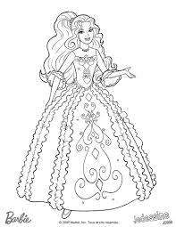 Coloriage Barbie Coloriage De Ren E Dans Sa Belle Robe
