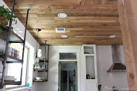 Wood ceiling kitchen Ceiling Ideas Reclaimed Wood Kitchen Ceiling Domestic Imperfection Diy Reclaimed Wood Ceiling so Cheap So Pretty Domestic Imperfection