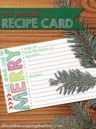 Printable Christmas Recipe Cards Printable Holiday Recipe Card