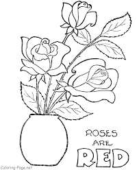 Small Picture Printable Roses Coloring Pages Coloring Home