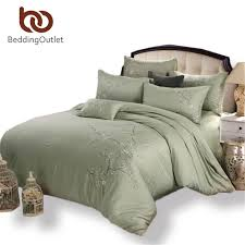 bedding bamboo bedding set soft cotton bed linen fade resistant embroidered duvet cover queen king size