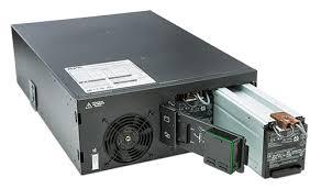 apc smart ups srt 6000va rm 208v apcguard com srt6krmxlt front open and battery pullout