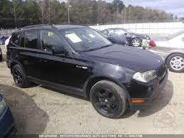 The 2008 bmw x3 is a small luxury crossover suv that comes in a single 3.0si trim level. Bmw X3 2008 Black 3 0l Vin Wbxpc93478wj03808 Free Car History