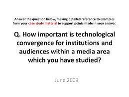 exemplar essay technological convergence