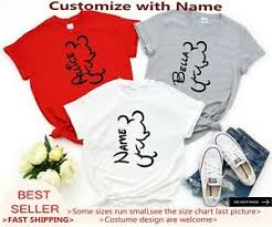 Disney World Size Chart Details About Mickey Mouse Silhouette Shirts Family Disney World Shirts 2019 Disney Shirt