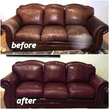 spray paint for leather sofa dye furniture couch red using red wine and clear before can