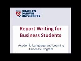 Report Business Report Writing For Business Students Youtube