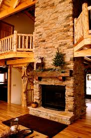 40 rustic country cabins with a stone fireplace for a romantic get away 37