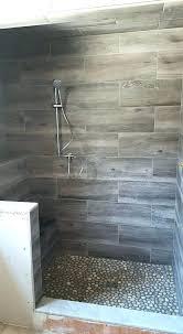 rock floor tile cool wood grain porcelain shower and river rocks ma black tiles