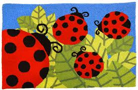 jellybean rugs garden ladybug party rug