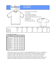 Tultex Size Chart Tultex Shirts Size Chart Best Picture Of Chart Anyimage Org
