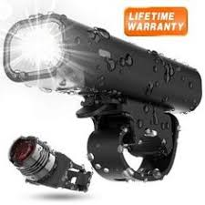 Powerful LED <b>Bicycle Headlight</b> & <b>Tail Light</b> Combo Super Bright ...