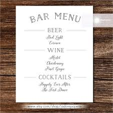 Sample Drink Menu Template