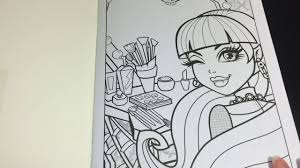 Coloring Time Ep 3 Monster High Draculaura Speed Coloring Page