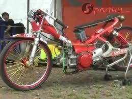 modifikasi yamaha crypton untuk balap drag bike 201 m speed