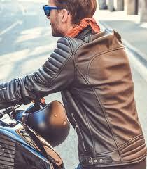 motorcycle leather jacket loubard