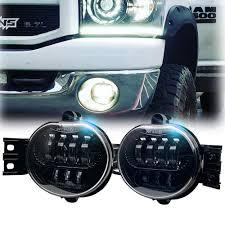2006 Dodge Ram Led Fog Lights 2019 Update Osram Chips Led Fog Light For Dodge Ram 1500 2002 2008 Dodge Ram 2500 3500 Pickup Truck 2003 2004 2005 2006 2007 2008 2009 1 Pair Black