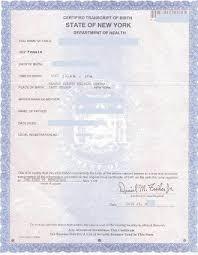 New York Apostille For Birth Certificate
