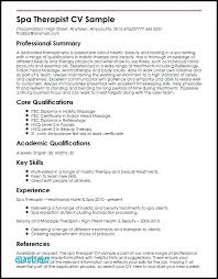 Massage Therapist Resume Adorable Massage Therapy Resume Samples Massage Therapy Resume Examples Best