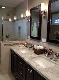 arts crafts bathroom vanity:  vanity bathroom craftsman with arts crafts ceramic tile image by karen herrick design
