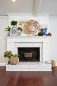 inspiring white brick fireplace for a brighter room design white brick fireplace with plantation and
