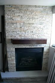 stacked stone veneer fireplace installation pictures diy