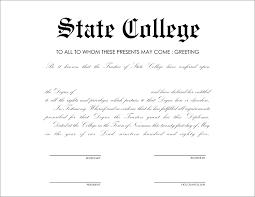 Fake Degree Certificate Sample Copy New Free High School Diploma