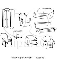 furniture clipart black and white.  Furniture Furniture Black White Clipart 1 Throughout And R