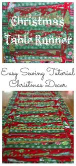 christmas table runner sewing tutorial from nap time creations