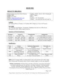 Resume Format For Freshers Sample Sample Download Latest