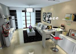 Contemporary living room with mini bar