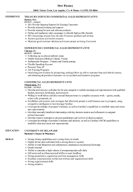 Sales Representative Resume Sample Commercial Sales Representative Resume Samples Velvet Jobs 8