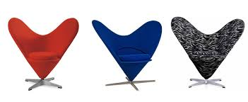 verner panton heart chair leather fabric cashmere furniture