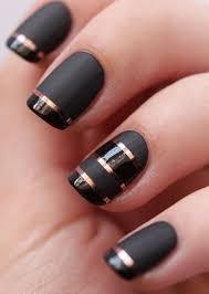 black nail art designs and ideas 5