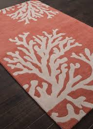 Coastal Seaside Coral Rug - Apricot