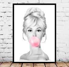 Brigitte Bardot Bubblegum Pop Art Brigitte Bardot Bubble Gum Poster Brigitte  Bardot Bubble Gum Print Brigitte Bardot Bubble Gum Art Posters