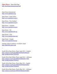 open door list of publicationore